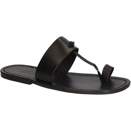 Παπούτσια Άνδρας Σαγιονάρες Gianluca - L'artigiano Del Cuoio 554 U NERO CUOIO nero