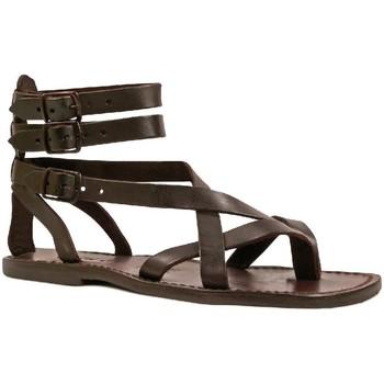 Παπούτσια Άνδρας Σανδάλια / Πέδιλα Gianluca - L'artigiano Del Cuoio 564 U MORO CUOIO Testa di Moro