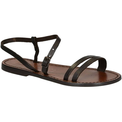 Παπούτσια Γυναίκα Σανδάλια / Πέδιλα Gianluca - L'artigiano Del Cuoio 591 D MORO CUOIO Testa di Moro