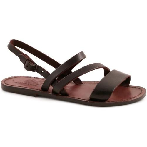 Παπούτσια Γυναίκα Σανδάλια / Πέδιλα Gianluca - L'artigiano Del Cuoio 598 D MORO CUOIO Testa di Moro