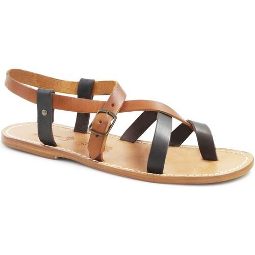 Παπούτσια Γυναίκα Σανδάλια / Πέδιλα Gianluca - L'artigiano Del Cuoio 530 U MORO-CUOIO LGT-CUOIO Testa di Moro