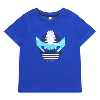 Υφασμάτινα Κορίτσι T-shirt με κοντά μανίκια Esprit ENORA Μπλέ