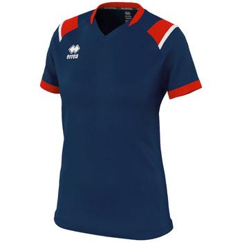 Υφασμάτινα Γυναίκα T-shirt με κοντά μανίκια Errea Maillot femme  lenny bleu/marine/blanc