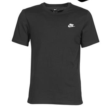 Υφασμάτινα Άνδρας T-shirt με κοντά μανίκια Nike M NSW CLUB TEE Black / Άσπρο
