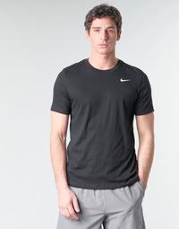 Υφασμάτινα Άνδρας T-shirt με κοντά μανίκια Nike M NK DRY TEE DFC CREW SOLID Black / Άσπρο
