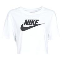 Υφασμάτινα Γυναίκα T-shirt με κοντά μανίκια Nike W NSW TEE ESSNTL CRP ICN FTR Άσπρο / Black