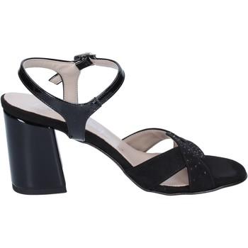 Παπούτσια Γυναίκα Σανδάλια / Πέδιλα Lady Soft sandali camoscio sintetico vernice Nero
