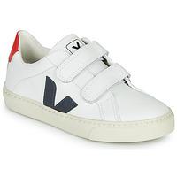 Παπούτσια Αγόρι Χαμηλά Sneakers Veja SMALL-ESPLAR-VELCRO Άσπρο / Μπλέ / Red