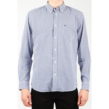 Υφασμάτινα Άνδρας Πουκάμισα με μακριά μανίκια Wrangler 1 PKT Shirt W5929M8DF blue, white