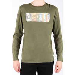 Υφασμάτινα Άνδρας Μπλουζάκια με μακριά μανίκια Lee L848AI olive green