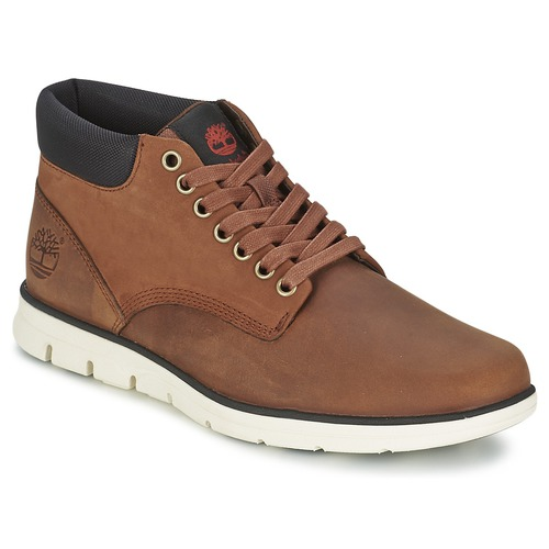 Παπούτσια Άνδρας Ψηλά Sneakers Timberland BRADSTREET CHUKKA LEATHER ΚΟΚΚΙΝΟ / Brown / Fg