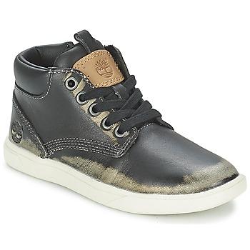 Παπούτσια Παιδί Μπότες Timberland GROVETON LEATHER CHUKKA Black
