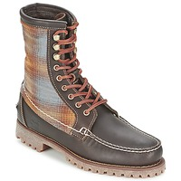 Παπούτσια Άνδρας Μπότες Timberland AUTHENTICS 8 IN RUGGED HANDSEWN F/L BOOT Brown / Fonce / FEUTRE