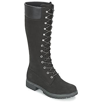 Παπούτσια Γυναίκα Μπότες για την πόλη Timberland WOMEN'S PREMIUM 14IN WP BOOT Black / Nubuck