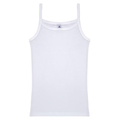 Υφασμάτινα Κορίτσι Αμάνικα / T-shirts χωρίς μανίκια Petit Bateau 53295 Άσπρο