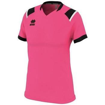 Υφασμάτινα Γυναίκα T-shirt με κοντά μανίκια Errea Maillot femme  lenny vert/noir/blanc