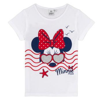Υφασμάτινα Κορίτσι T-shirt με κοντά μανίκια TEAM HEROES MINNIE Άσπρο