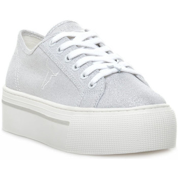 Παπούτσια Γυναίκα Χαμηλά Sneakers Windsor Smith RUBY CANVAS METALLIC TREAD SILVER Grigio