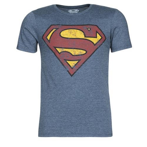 Υφασμάτινα Άνδρας T-shirt με κοντά μανίκια Yurban SUPERMAN LOGO VINTAGE Marine