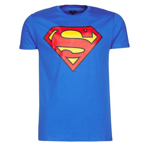 Υφασμάτινα Άνδρας T-shirt με κοντά μανίκια Yurban SUPERMAN LOGO CLASSIC Μπλέ