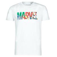 Υφασμάτινα Άνδρας T-shirt με κοντά μανίκια Casual Attitude MARVEL HERO LOGO Άσπρο