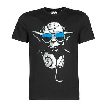 Υφασμάτινα Άνδρας T-shirt με κοντά μανίκια Casual Attitude DJ YODA COOL Black