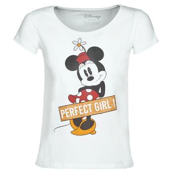 Υφασμάτινα Γυναίκα T-shirt με κοντά μανίκια Yurban MINNIE PERFECT GIRL Άσπρο