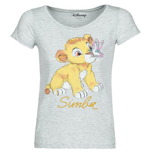 Υφασμάτινα Γυναίκα T-shirt με κοντά μανίκια Yurban THE LION KING Grey