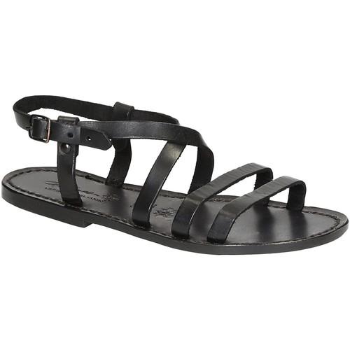 Παπούτσια Γυναίκα Σανδάλια / Πέδιλα Gianluca - L'artigiano Del Cuoio 531 D NERO CUOIO nero