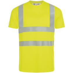 Υφασμάτινα Άνδρας T-shirt με κοντά μανίκια Sols MERCURE PRO VISIBLITY WORK Amarillo