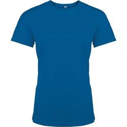 Υφασμάτινα Γυναίκα T-shirt με κοντά μανίκια Proact T-Shirt femme manches courtes  Sport bleu marine