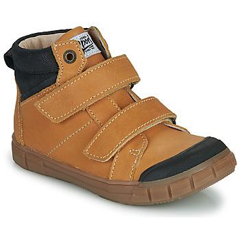 Παπούτσια Αγόρι Ψηλά Sneakers GBB HENI Cognac