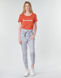 Υφασμάτινα Γυναίκα Παντελόνια Chino/Carrot Vero Moda VMEVA Άσπρο / Grey