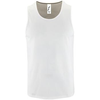 Υφασμάτινα Άνδρας Αμάνικα / T-shirts χωρίς μανίκια Sols SPORT TT MEN Blanco