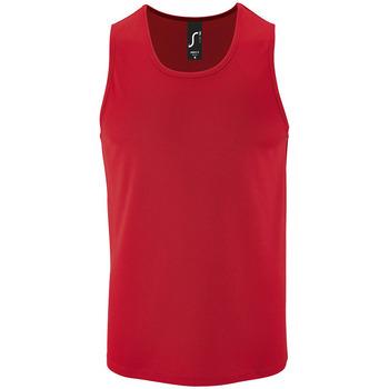 Υφασμάτινα Άνδρας Αμάνικα / T-shirts χωρίς μανίκια Sols SPORT TT MEN Rojo