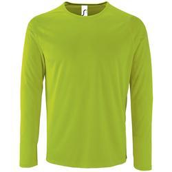 Υφασμάτινα Άνδρας Μπλουζάκια με μακριά μανίκια Sols SPORT LSL MEN Verde