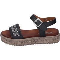 Παπούτσια Γυναίκα Σανδάλια / Πέδιλα Osmose sandali pelle sintetica strass Nero