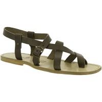 Παπούτσια Γυναίκα Σανδάλια / Πέδιλα Gianluca - L'artigiano Del Cuoio 530 U FANGO CUOIO Fango