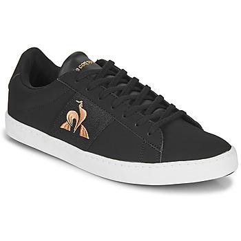 Παπούτσια Γυναίκα Χαμηλά Sneakers Le Coq Sportif ELSA Black / Ροζ