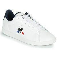 Παπούτσια Παιδί Χαμηλά Sneakers Le Coq Sportif COURTSET GS Άσπρο / Μπλέ