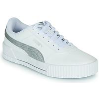 Παπούτσια Γυναίκα Χαμηλά Sneakers Puma CARINA Άσπρο / Argenté