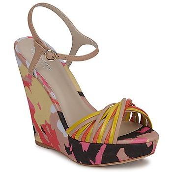 Παπούτσια Γυναίκα Σανδάλια / Πέδιλα Bourne KARMEL Beige / Multicolore