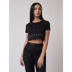 Υφασμάτινα Γυναίκα T-shirt με κοντά μανίκια Project X Paris  Black