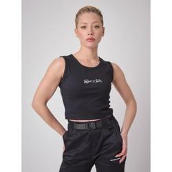 Υφασμάτινα Γυναίκα Αμάνικα / T-shirts χωρίς μανίκια Project X Paris  Black