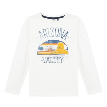 Υφασμάτινα Αγόρι Μπλουζάκια με μακριά μανίκια 3 Pommes 3R10005-19-C Άσπρο