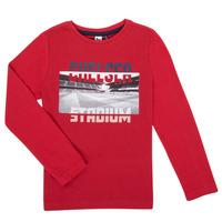 Υφασμάτινα Αγόρι Μπλουζάκια με μακριά μανίκια 3 Pommes 3R10015-37-C Red