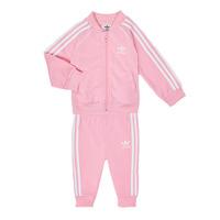 Υφασμάτινα Κορίτσι Σετ adidas Originals SST TRACKSUIT Ροζ