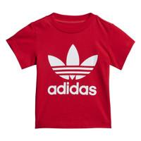 Υφασμάτινα Παιδί T-shirt με κοντά μανίκια adidas Originals TREFOIL TEE Red