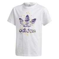Υφασμάτινα Κορίτσι T-shirt με κοντά μανίκια adidas Originals TREF TEE Άσπρο