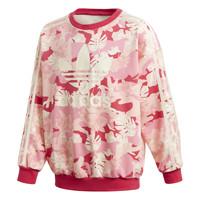 Υφασμάτινα Κορίτσι Φούτερ adidas Originals CREW Ροζ